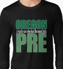 Steve Prefontaine Legend Dark shirt Long Sleeve T-Shirt