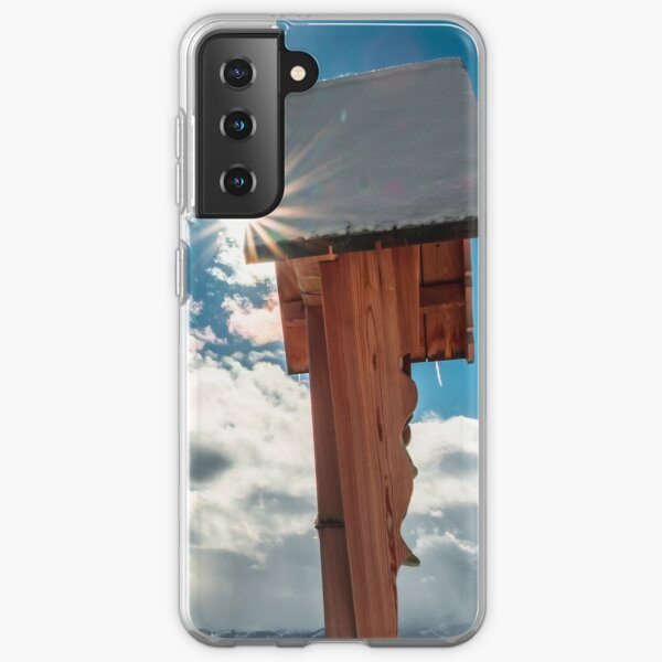 Crucifix on the top of the mountain Samsung Galaxy Soft Case