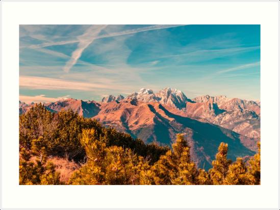 Sunny autumn day at the mount Tersadia in the italian alps by zakaz86