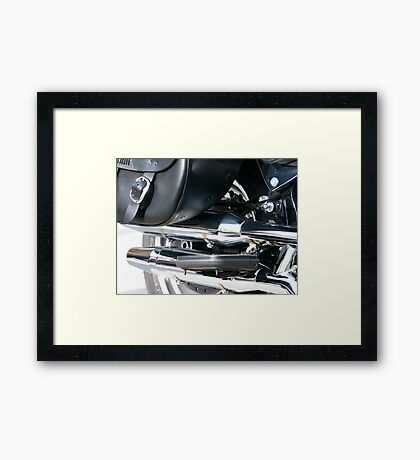 Harley Tail Pipes Framed Print