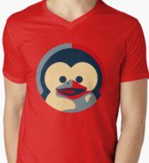 Linux tux penguin obama poster baby  Men's V-Neck T-Shirt