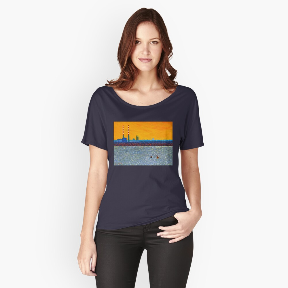 Poolbeg, Kayakers (Dublin, Ireland) Relaxed Fit T-Shirt