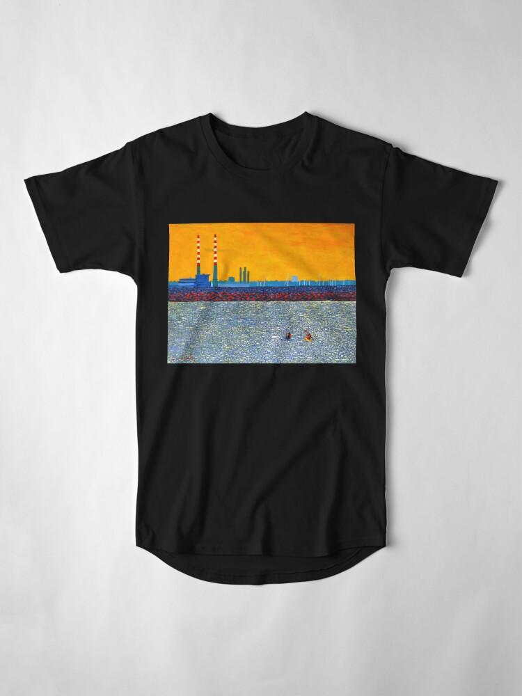 Alternate view of Poolbeg, Kayakers (Dublin, Ireland) Long T-Shirt