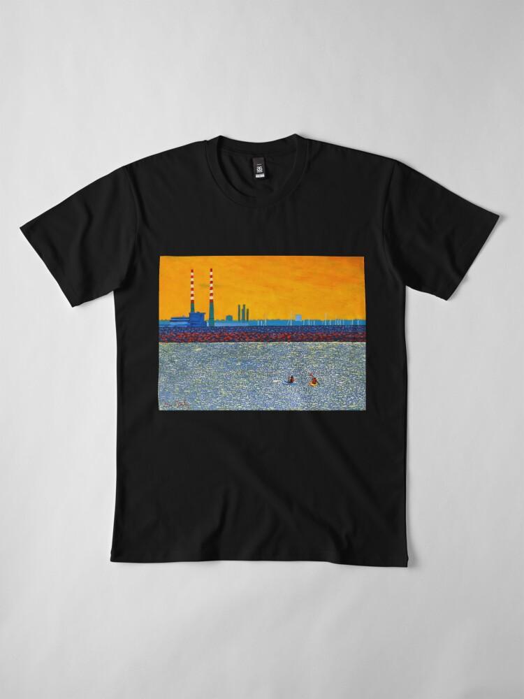 Alternate view of Poolbeg, Kayakers (Dublin, Ireland) Premium T-Shirt