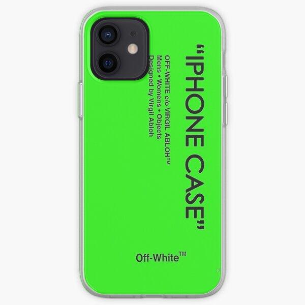 Funda iPhone verde apagado Funda blanda para iPhone