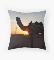 A camel. Throw Pillow
