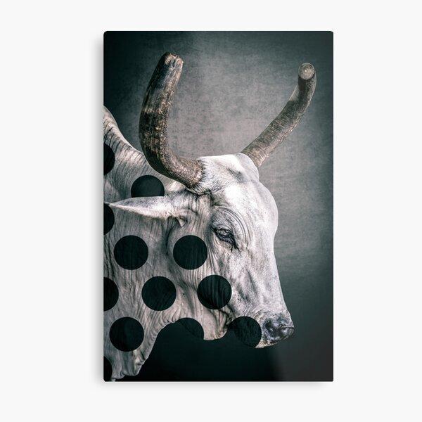 ZEBULLITION -White and black Metal Print
