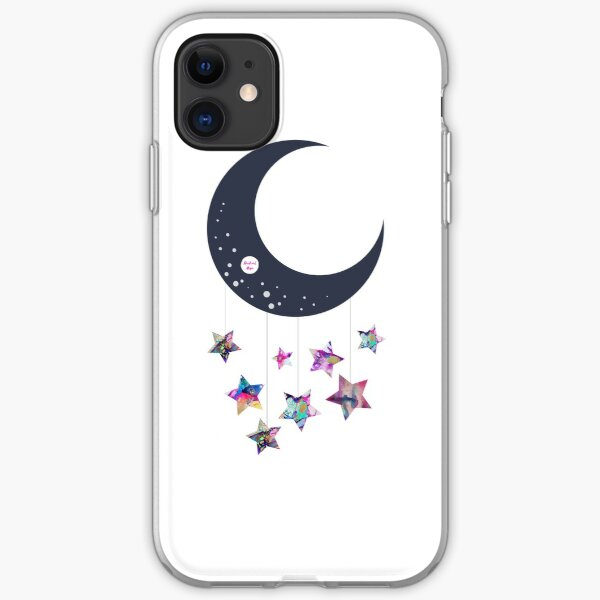 Abstract Moon and Stars  iPhone Soft Case