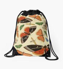 Vintage Butterflies Drawstring Bag