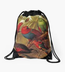 Parrots in the Jungle Drawstring Bag
