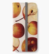 Vintage Apples Print iPhone Wallet/Case/Skin