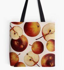 Vintage Apples Print Tote Bag