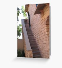 Pink Staircase Greeting Card