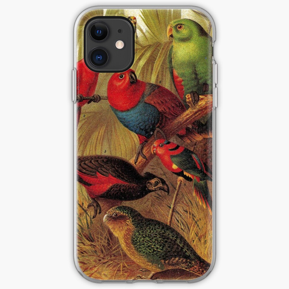 Parrots in the Jungle iPhone Soft Case
