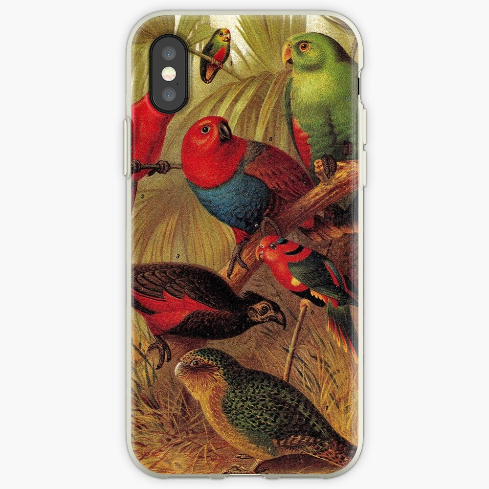 Parrots in the Jungle iPhone Case & Cover