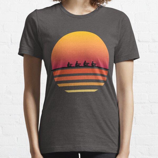 Rowing Team Sunset Lake Art | Cute Crew Sport Art Gift Essential T-Shirt