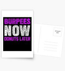 Burpees Donuts später Postkarten
