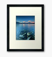 Snow Clouds @ Sunset - Glenuig Bay Framed Print