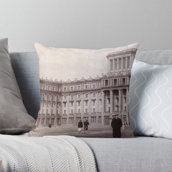 #Norilsk #NorilLag #Landmark #Architecture Classical architecture Building Palace History Plaza City old built Throw Pillow