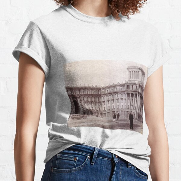 Political Poster, #Norilsk #NorilLag #Landmark #Architecture Classical architecture Building Palace History Plaza City old built Classic T-Shirt