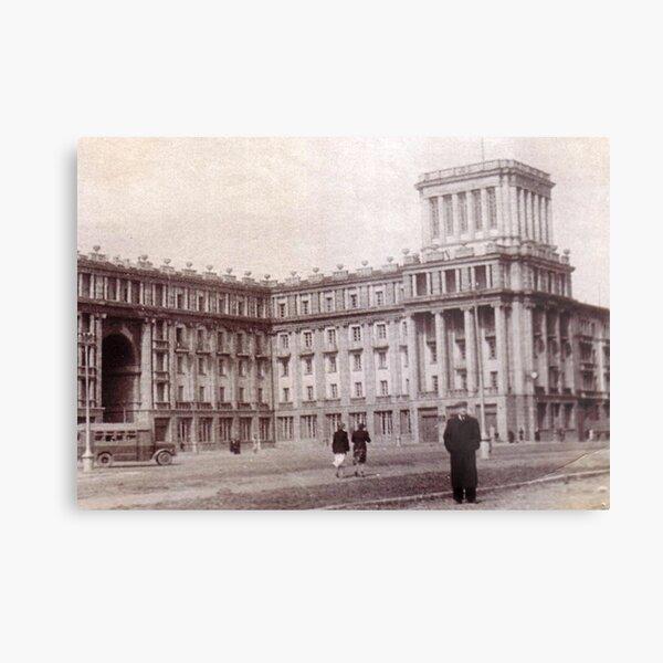 #Norilsk #NorilLag #Landmark #Architecture Classical architecture Building Palace History Plaza City old built Metal Print