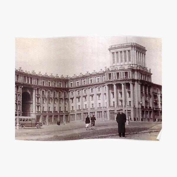 #Norilsk #NorilLag #Landmark #Architecture Classical architecture Building Palace History Plaza City old built Poster