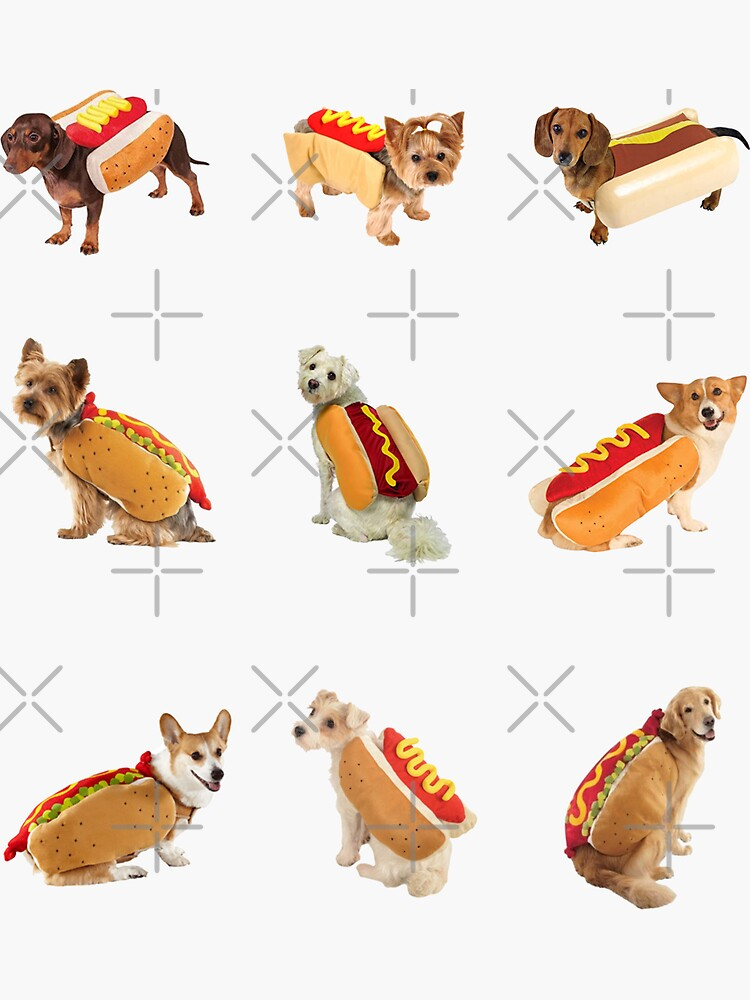 Hotdoggos Sticker-pack de Elisecv