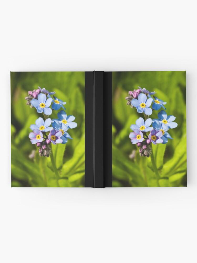 Alternate view of Forget-me-not Flowers (Myosotis arvensis) Hardcover Journal