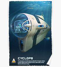 Subnautica - Cyclops Submarine Vehicle Poster
