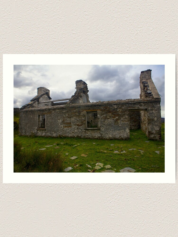 Alternate view of Ruined Cottage at Cashelnagor, County Donegal, Ireland Art Print