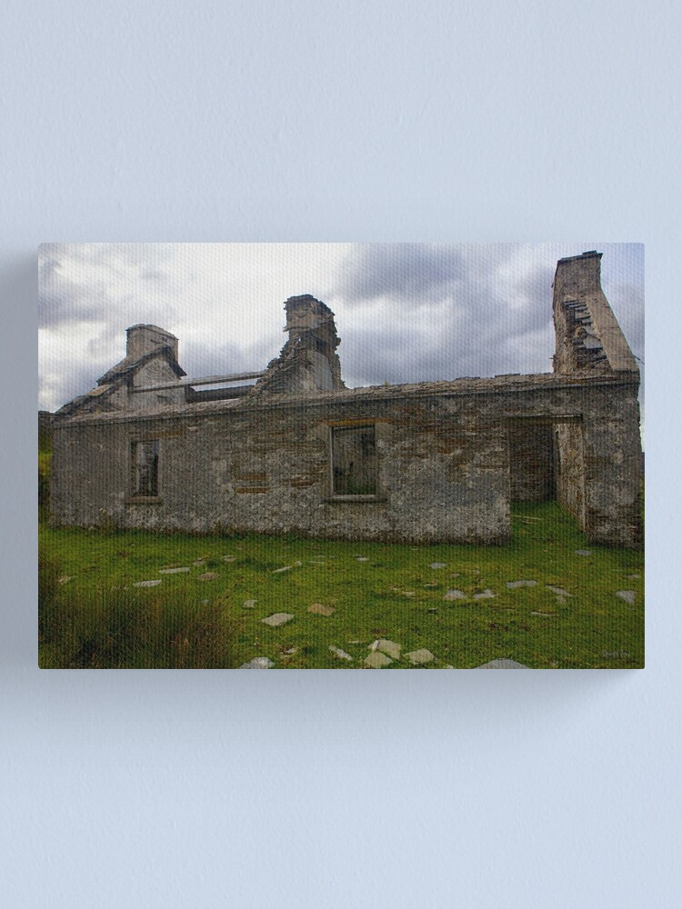 Alternate view of Ruined Cottage at Cashelnagor, County Donegal, Ireland Canvas Print