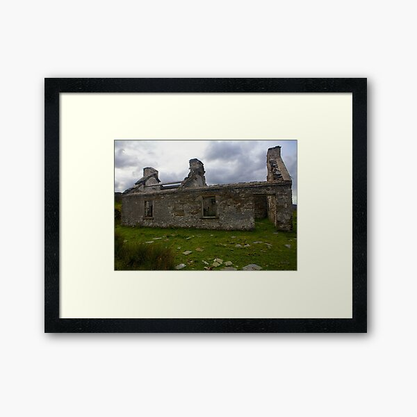 Ruined Cottage at Cashelnagor, County Donegal, Ireland Framed Art Print