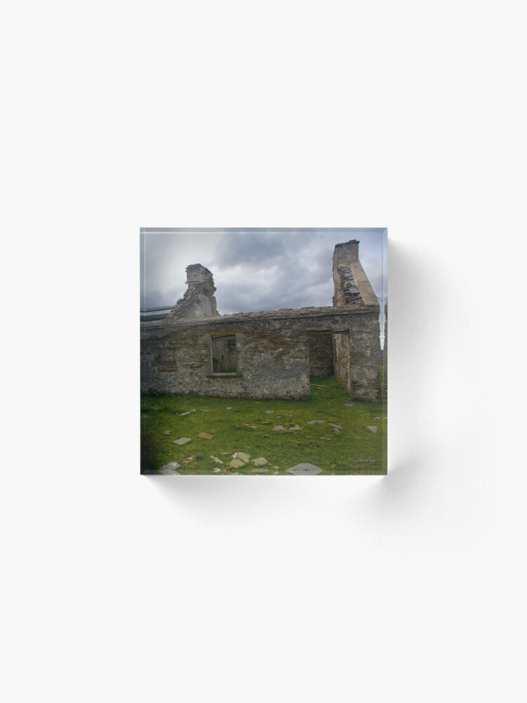 Alternate view of Ruined Cottage at Cashelnagor, County Donegal, Ireland Acrylic Block