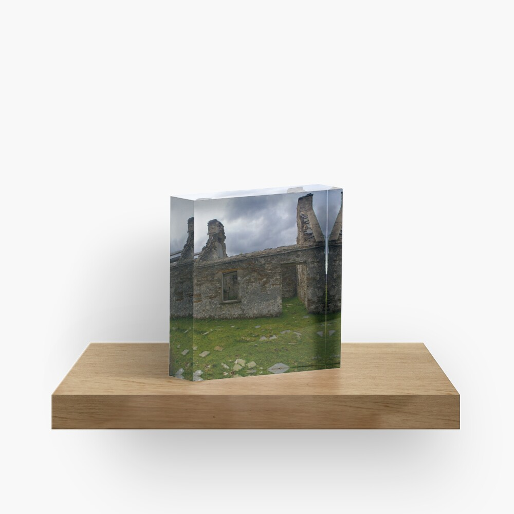 Ruined Cottage at Cashelnagor, County Donegal, Ireland Acrylic Block