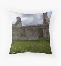 Ruined Cottage at Cashelnagor, County Donegal, Ireland Floor Pillow