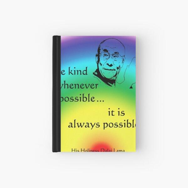 Dalai Lama: Be Kind - Rainbow Background Hardcover Journal