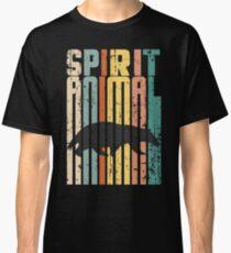 Weinlese beunruhigtes Dachs-Geist-Tierhemdmann-Frauenkinder Classic T-Shirt