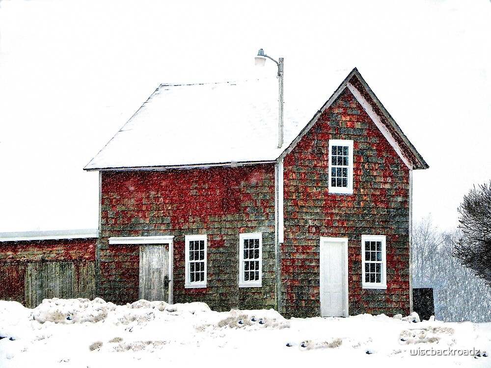 Speckled Farm Shed by wiscbackroadz