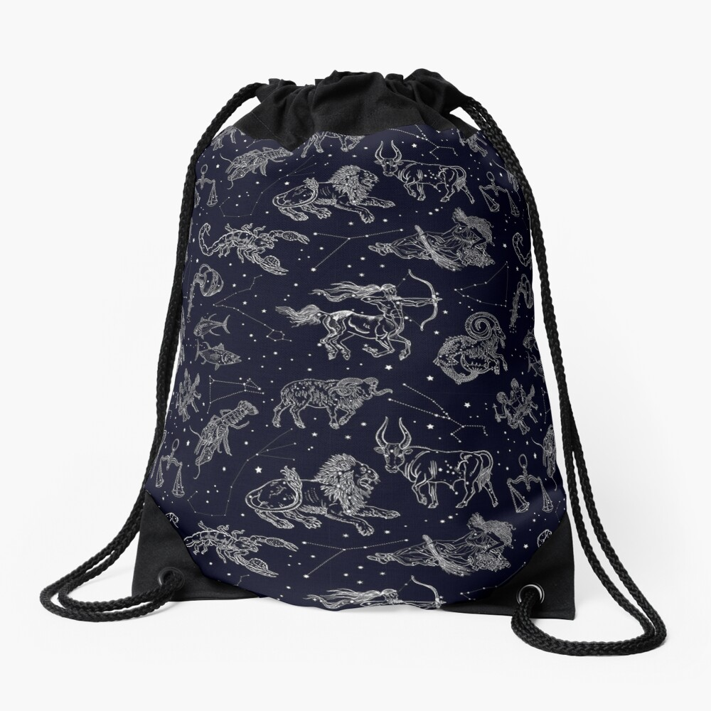 Vintage astronomy seamless pattern. Drawstring Bag