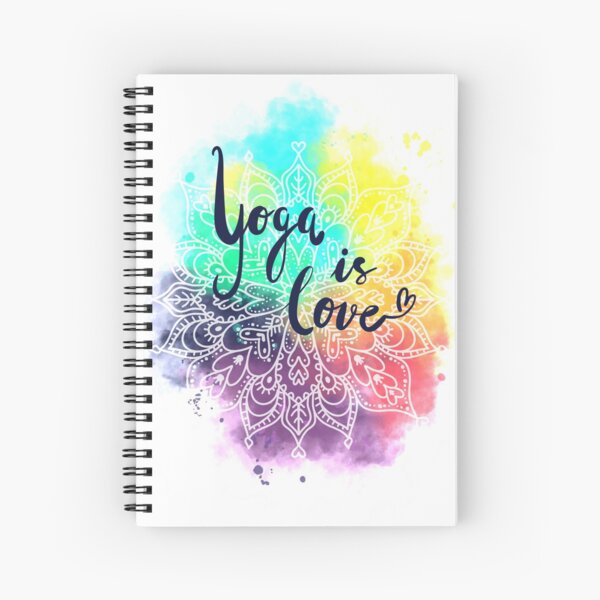 Yoga is love  - mandala  Spiralblock