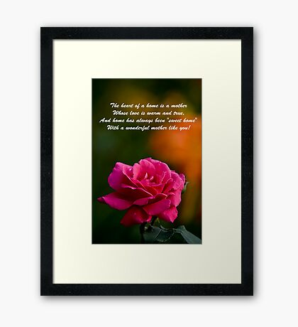 Mother's Day Card 2 Framed Print