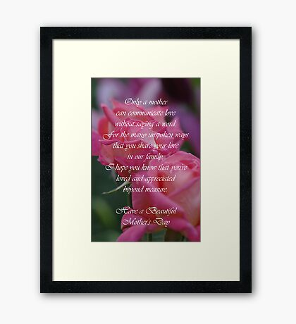 Mother's Day Card 6 Framed Print
