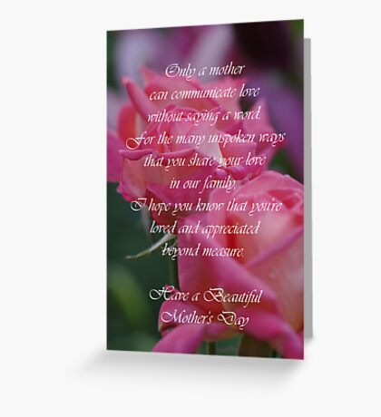 Mother's Day Card 6 Greeting Card
