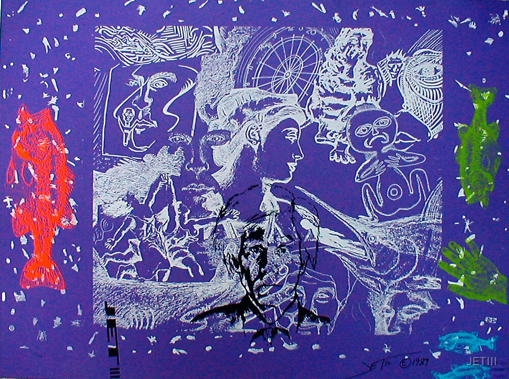 Purple Snowflakes by JETIII