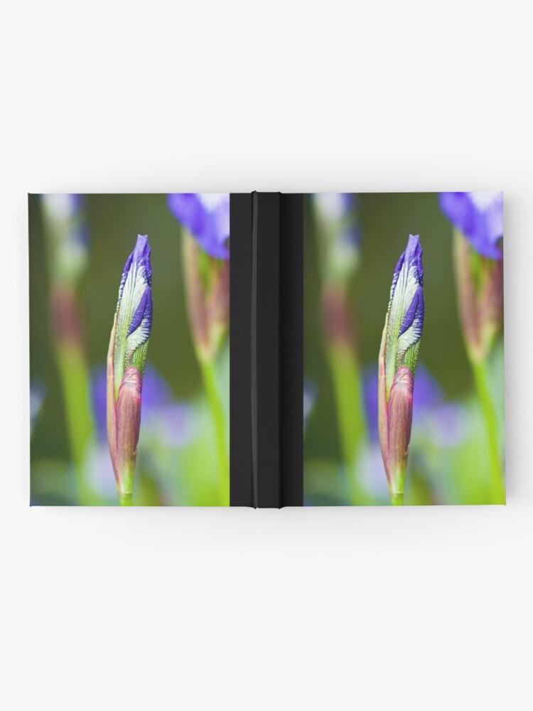 Alternate view of Purple Iris Bud (Iris versicolor) Hardcover Journal