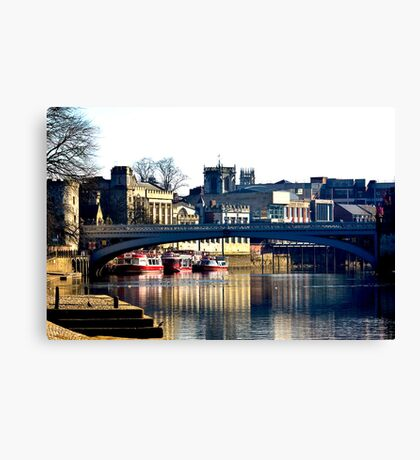 River Ouse View - York Canvas Print