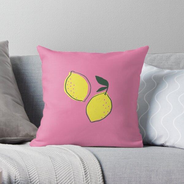 Pair of Lemons - The Pink Lemonade Collection Throw Pillow