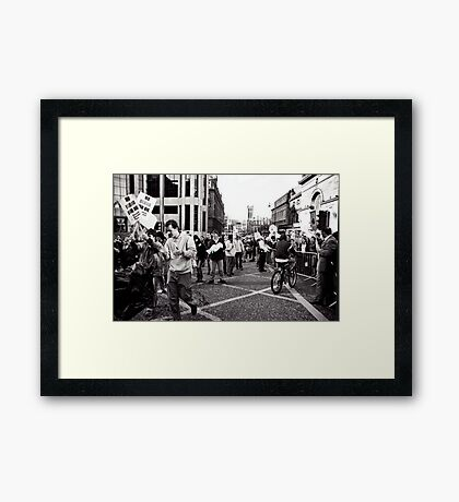 Taking over the Streets Framed Print