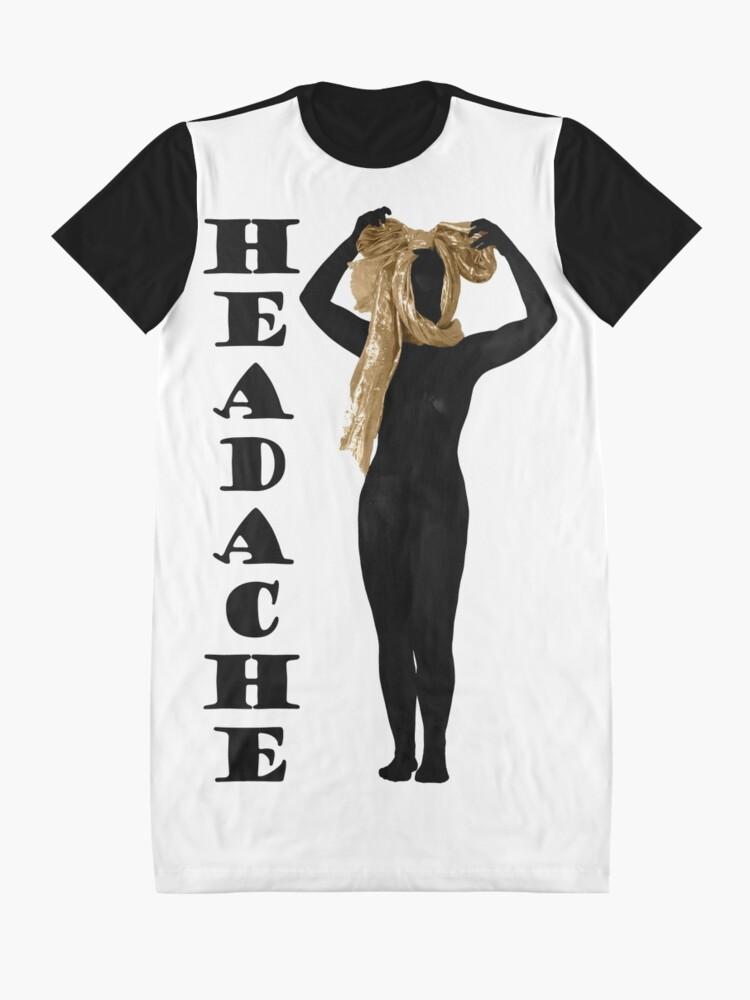 Alternative Ansicht von Kopfschmerzen T-Shirt Kleid