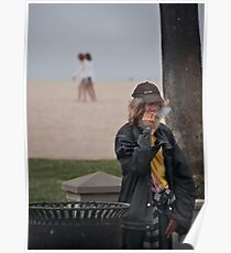People at Venice Beach Poster